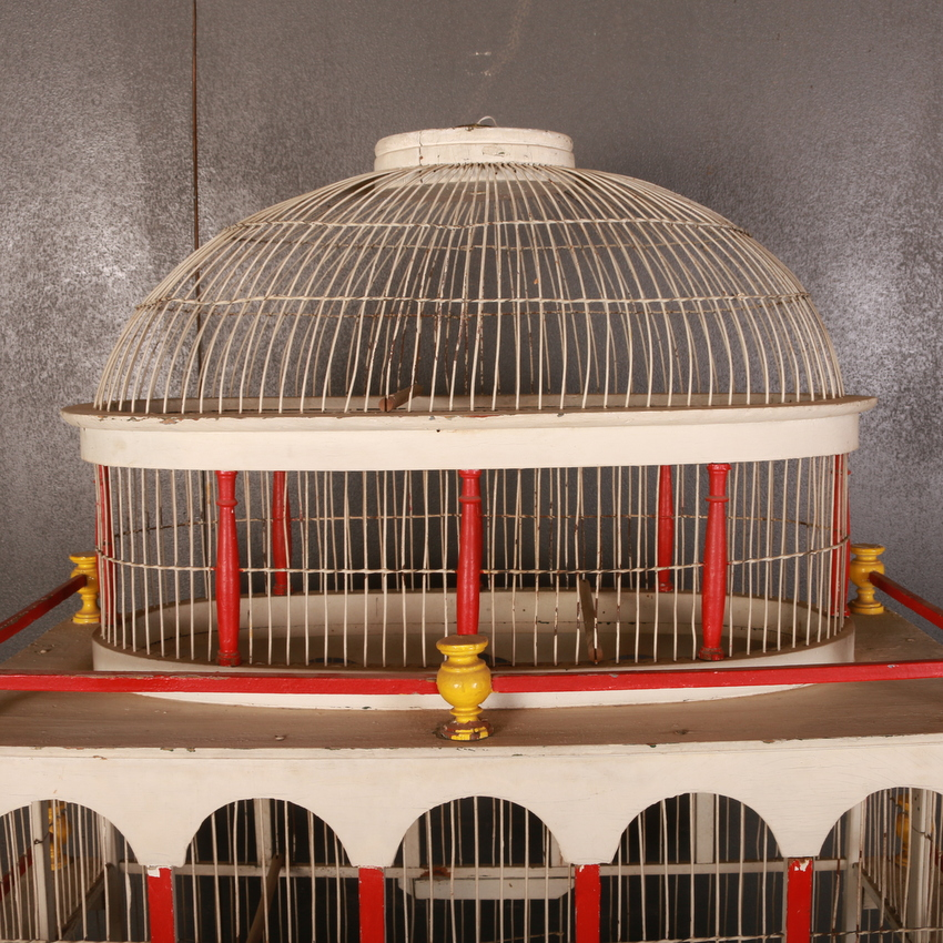 Painted Bird Cage