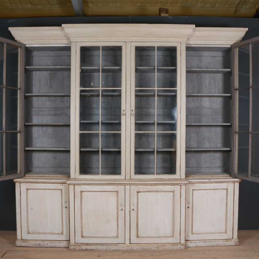 18th C Original Painted Bookcase