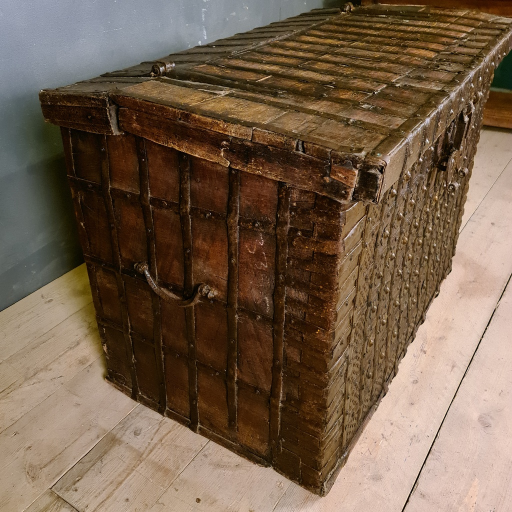 Anglo-Indian Iron Bound Coffer