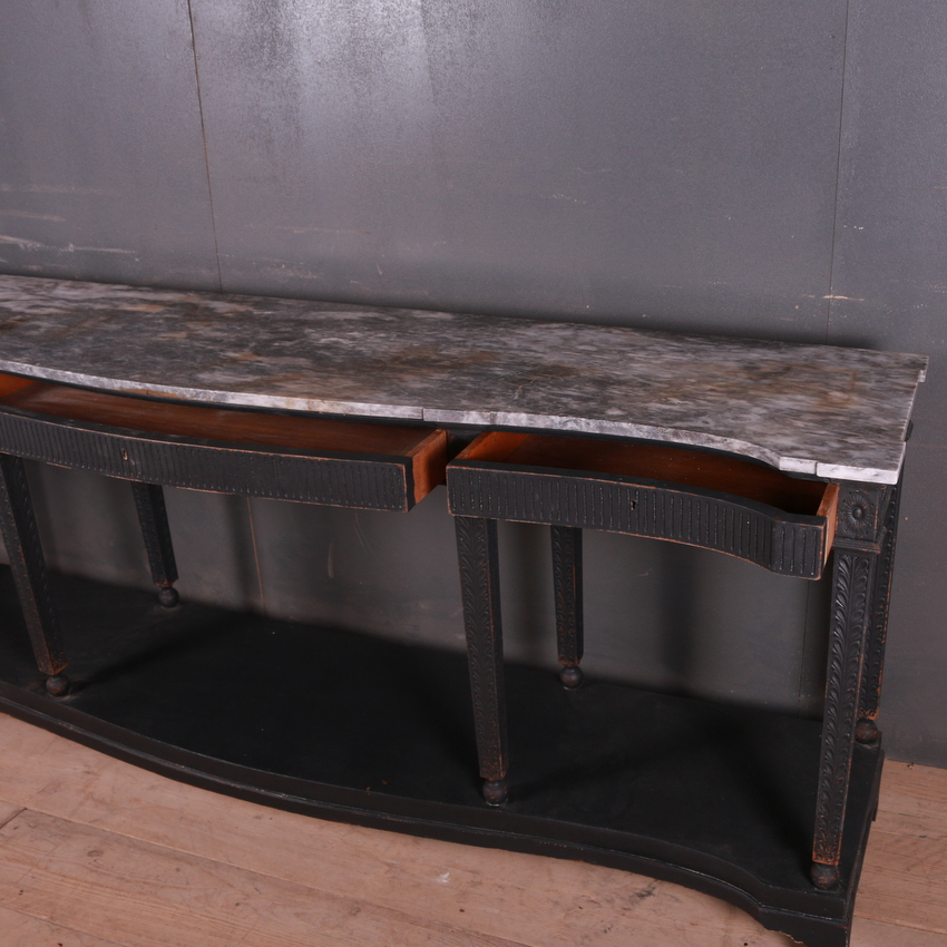 French Marble Top Console Table